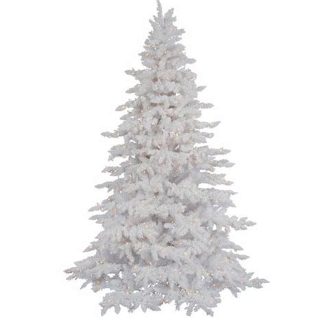 vickerman pre lit 4 5 flocked white spruce artificial christmas tree dura lit clear lights