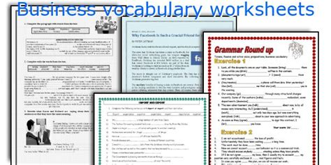 english teaching worksheets business vocabulary