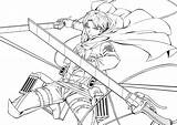 Titan Attack Coloring Pages Levi Printable Getcolorings sketch template