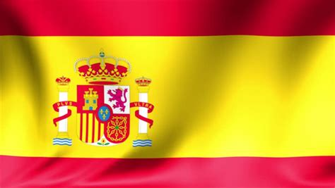 flag  spain background seamless loop animation stock