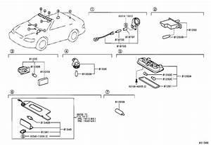 2002 Toyota Solara Courtesy Light  Lamp  Key Cylinder