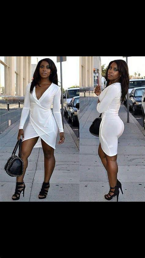 dress white dress hot curvy african american black