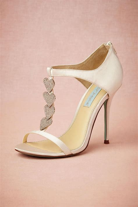 dancing heart  strap wedding shoes  bhldn