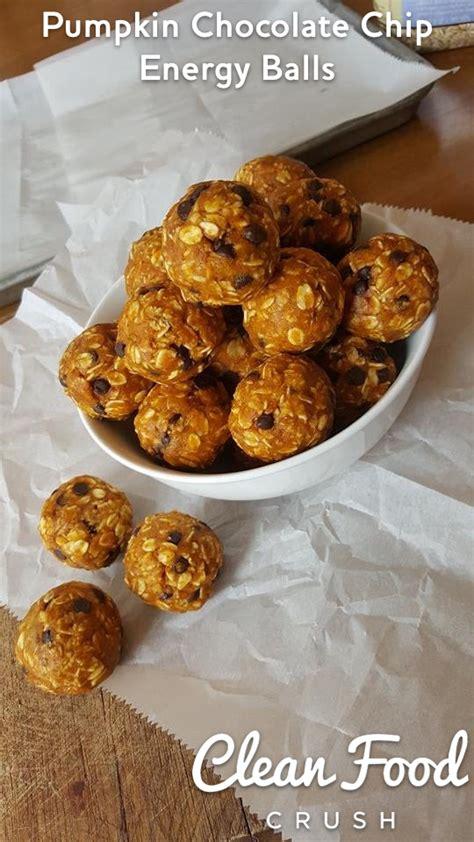 Pumpkin Chocolate Chip Energy Balls Clean Food Crush