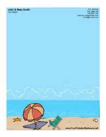 Free Printable Beach Stationery
