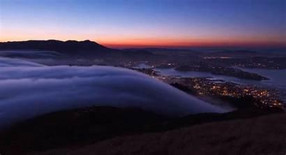 Fog San Francisco Animated Clouds Gifs Mountain