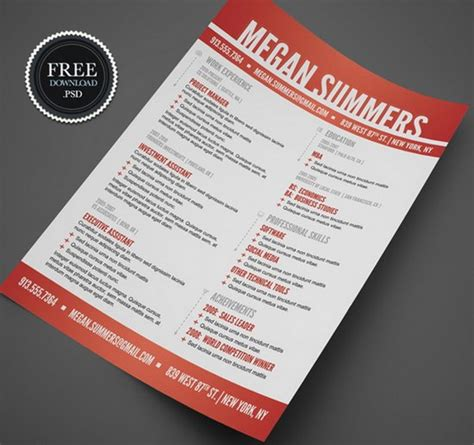 creative resume templates free 35 free creative resume cv templates xdesigns