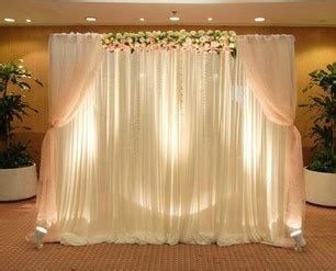 Romantic 6X3M Ready Made Wedding backdrop with pleated