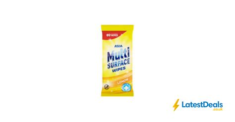 Asda Multi Surface Antibacterial Wipes Lemon 80pk, £0.85 ...