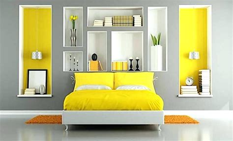 yellow paint color for bedroom schemes grey and