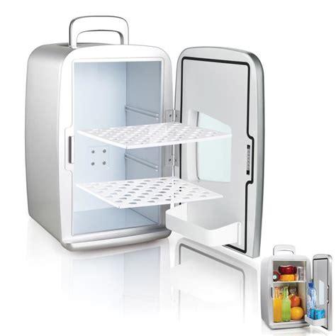 mini frigo bureau mini frigo réfrigérateur 14l portable argent achat