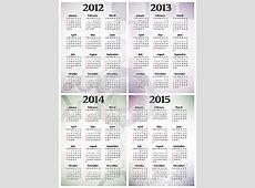Calendar 2012 2015 Royalty Free Stock Image Image