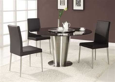 modern table l set black marble round top modern dining table