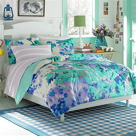 watercolor comforter set teen vogue 174 watercolor garden comforter set bed bath