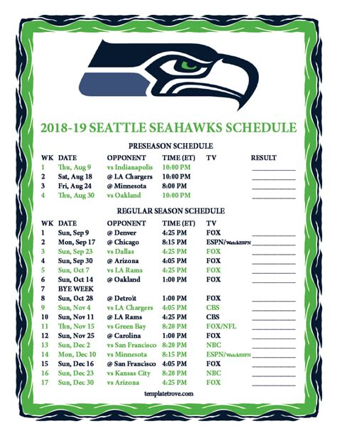 Free San Francisco 49ers Wallpaper Printable 2018 2019 Seattle Seahawks Schedule
