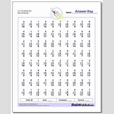 Two Minute Addition Worksheets