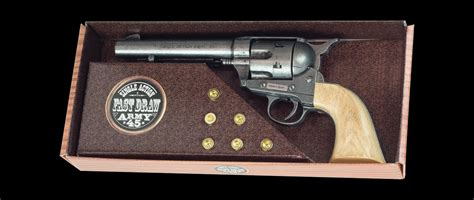 wayne quot the duke quot m1873 army antique grey finish cap pistol