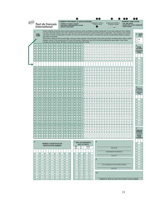 grille conversion toeic test de fran 231 ais international