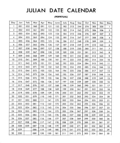 sample julian calendar templates sample templates