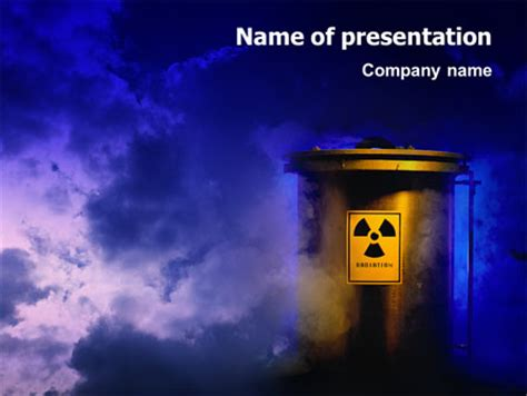 nuclear waste  template  powerpoint