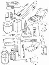 Coloring Pages Makeup Printable Cosmetic Colorings Getcolorings Recommended Getdrawings Doll sketch template