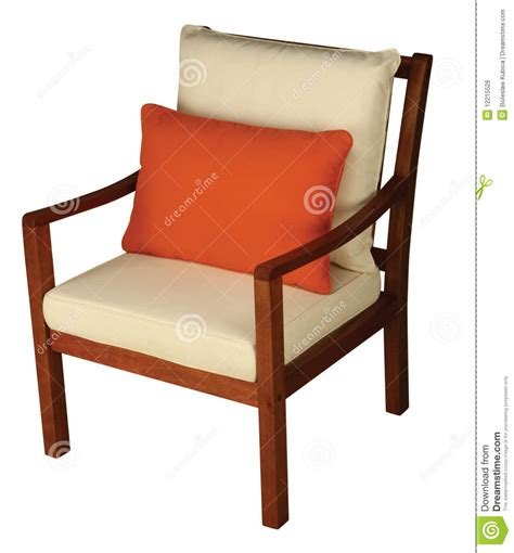 wooden chair with cushion royalty free stock image image
