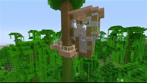 How To Build A Tree House In Minecraft-youtube