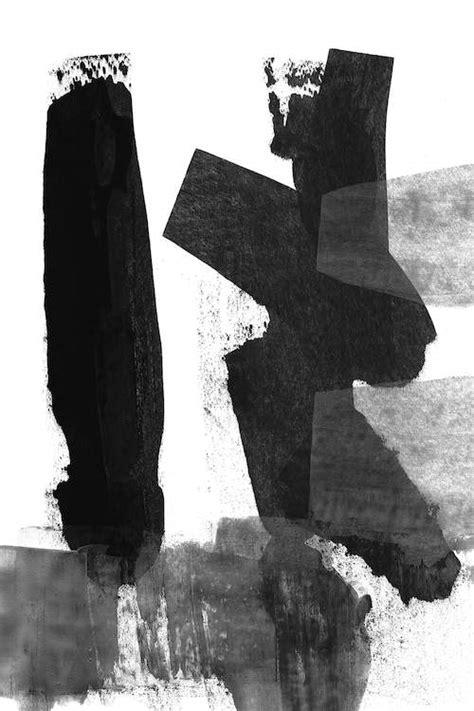 Black & White Brush Stroke III Canvas Art by Linda Woods