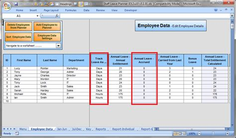 employee tracking templates excel  formats