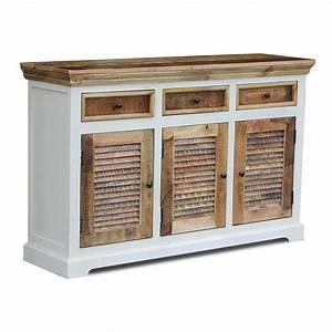 Sideboard Braun Weiß : sideboard neron wei braun im landhausstil 140cm ~ Markanthonyermac.com Haus und Dekorationen