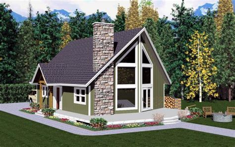 a frame house plans with garage aframe houseplan 99946 has 1172 sq ft of total living