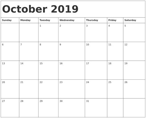 october calendar word printable calendar yearly