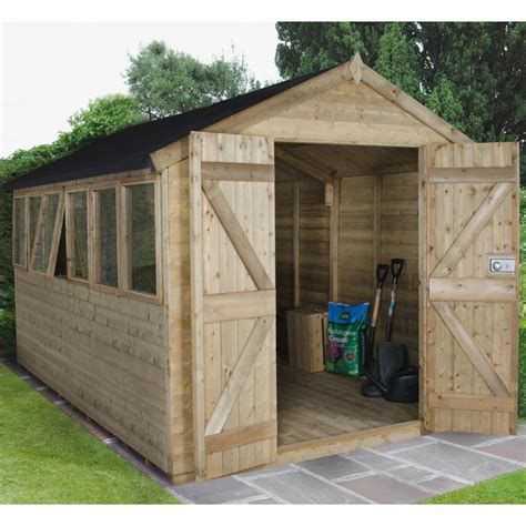 Tongue And Groove Boards For Sheds by Forest Garden 8 X 12 Premium Tongue And Groove Pressure