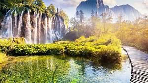 Wallpaper, Croatia, Beautiful, Waterfall, Park, Trees