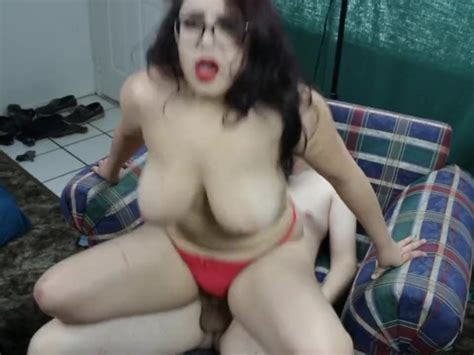 Daisy Dabs Gets High While Bent Over Chair In Red Thong