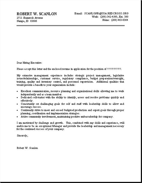 Professional Resume Cover Letter by Professional Resume Cover Letter Sle Letters Free