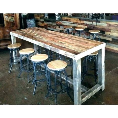 narrow counter height table small bar tall dining  set