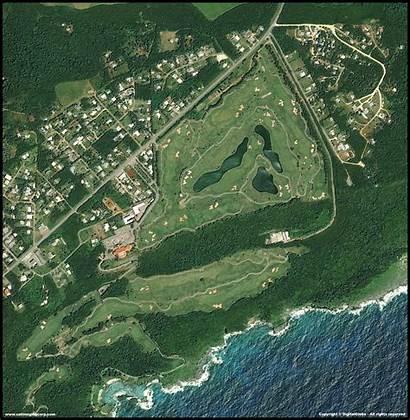 Guam Quickbird Satellite Mangilao Golf Landscape Aerial