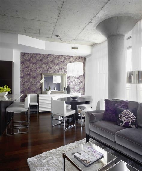 grey and purple living room wallpaper grey wallpaper living room living room contemporary with