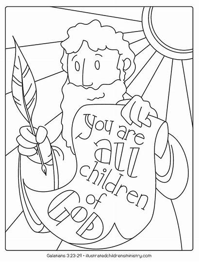 Bible Coloring Story Illustrated Stories Church Children