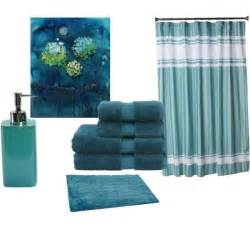 dark teal bathroom accessories sets brown and blue