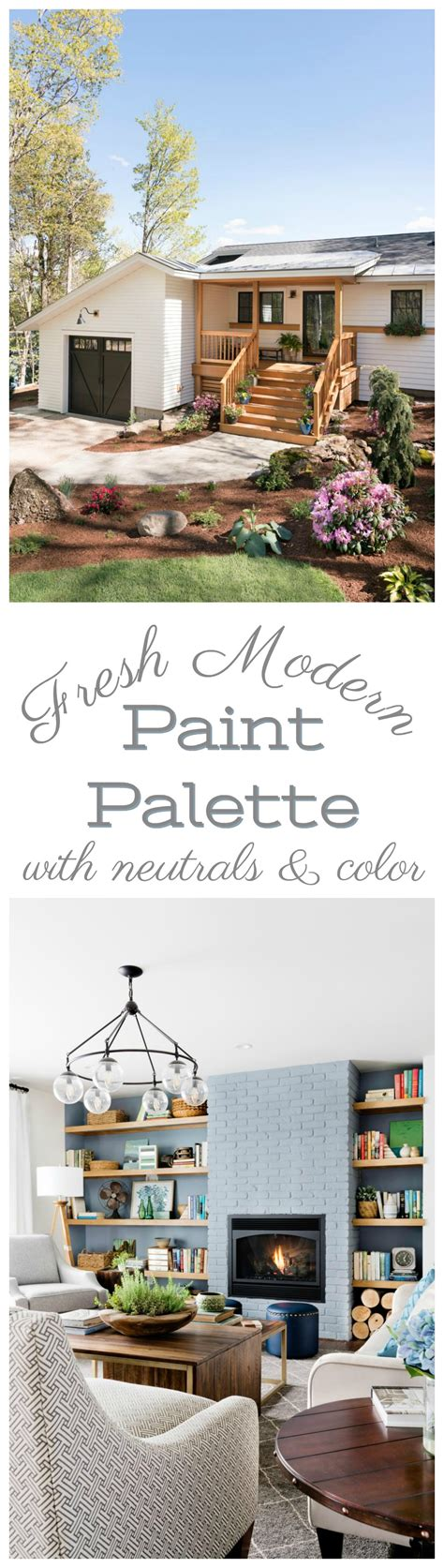 whole home neutral paint palette with color fox hollow cottage