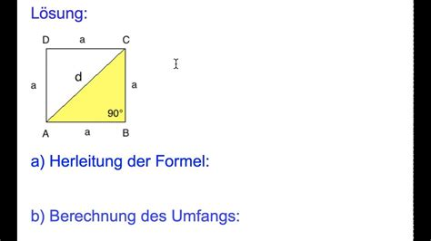 pythagoras quadrat herleitung und anwendung der formel