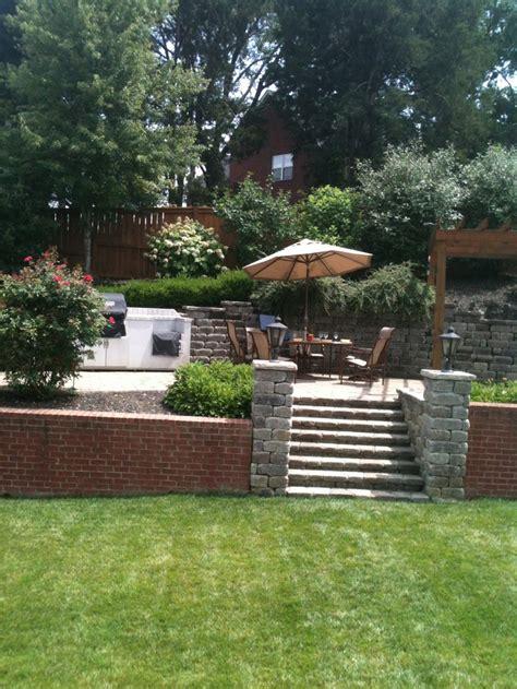 sloped backyard ideas  pinterest sloping
