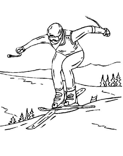 jeux gratuit de fille cuisine coloriage sports ski à colorier allofamille