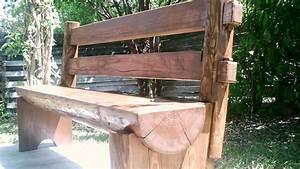 Half Log Bench - FineWoodworking