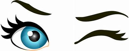 Eyes Winking Clip Wink Clipart Transparent Female