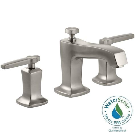 kohler margaux widespread low arc bathroom faucet nickel