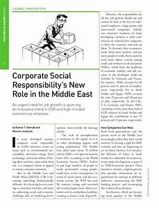 Corporate Social Responsibility's New Role in the Middle East