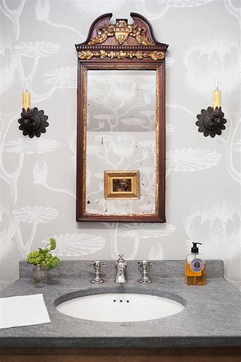cole  son lily wallpaper transitional bathroom